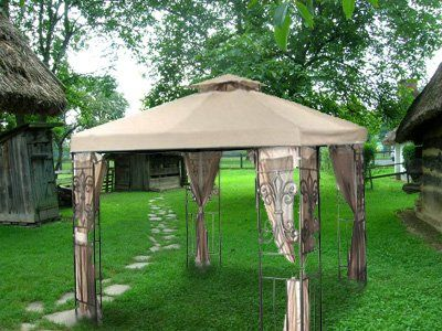 $54  Amazon.com : New 10'x10' Replacement Gazebo Canopy Top - Beige : Canopy Replacement Cover : Patio, Lawn & Garden