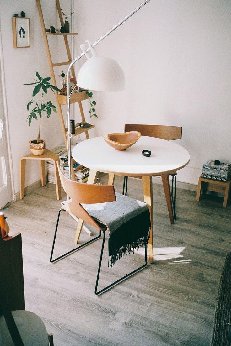 small round kitchen table round kitchen table Mini dining area love that round table bingbangnyc