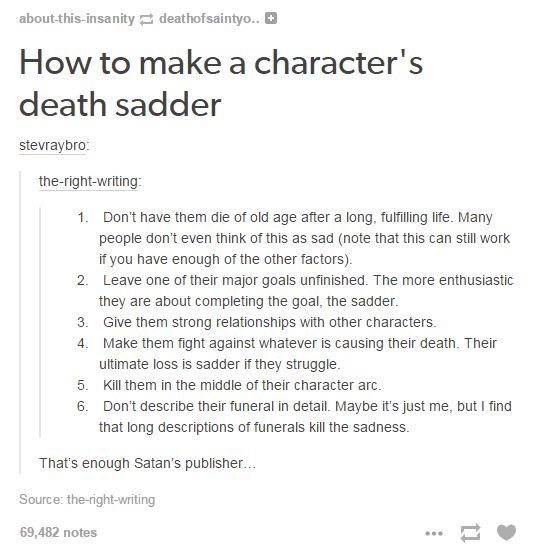 Death of a character