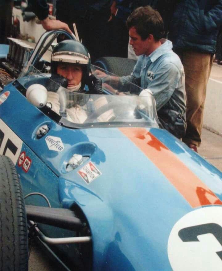 1968 Indianapolis 500 : Jochen Rindt, Brabham BT25 #35, Brabham Racing Organisation, Practice. (ph: © IMS)