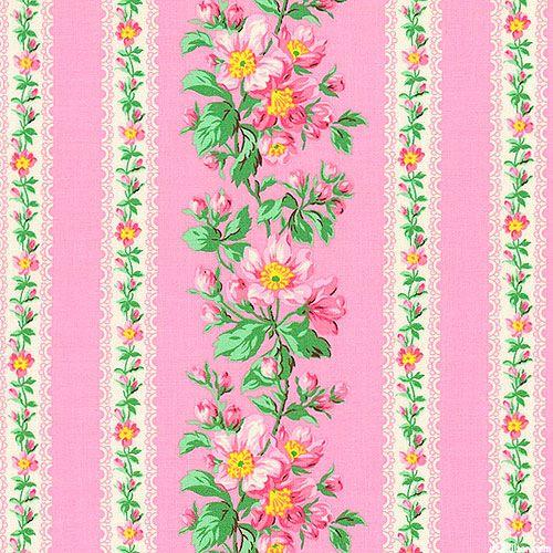 Snapshot - Blooming Rose Stripe - Retro Pink