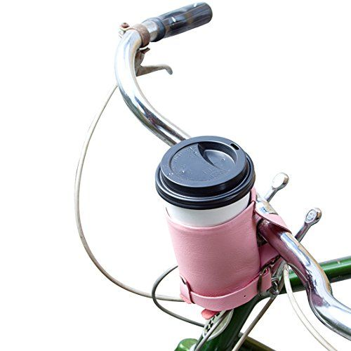 Cruzy Leather Bike Cup Holder Handmade by Hide & Drink :: Florida Flamingo -- You can find more details by visiting the image link.