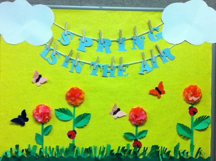 Spring bulletin board for Storytime room. #springbulletinboard
