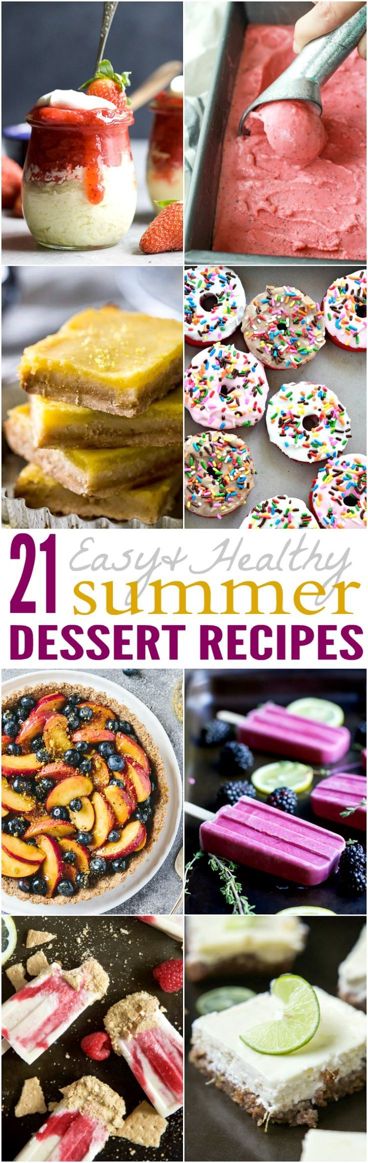 379 best seasonal spring summer dishes images on for Easy party desserts recipes