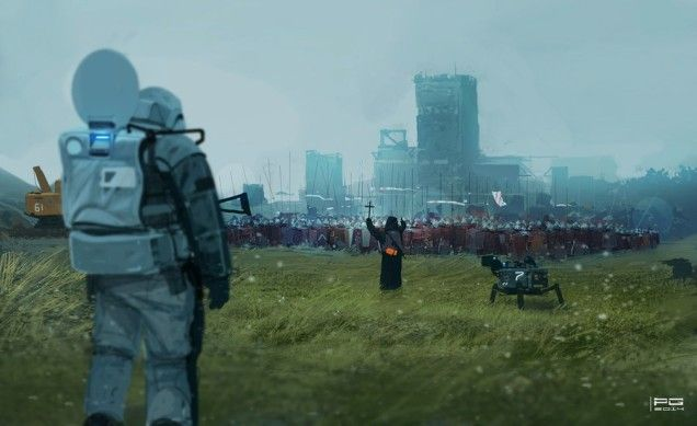 Concept Art Writing Prompt: A Clash Of Future And Past