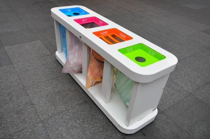 NMBS vuilnisbak, design by Maxime Szyf  Design Vlaanderen