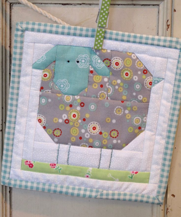 Farm Girl Wooly Sheep Block Kit