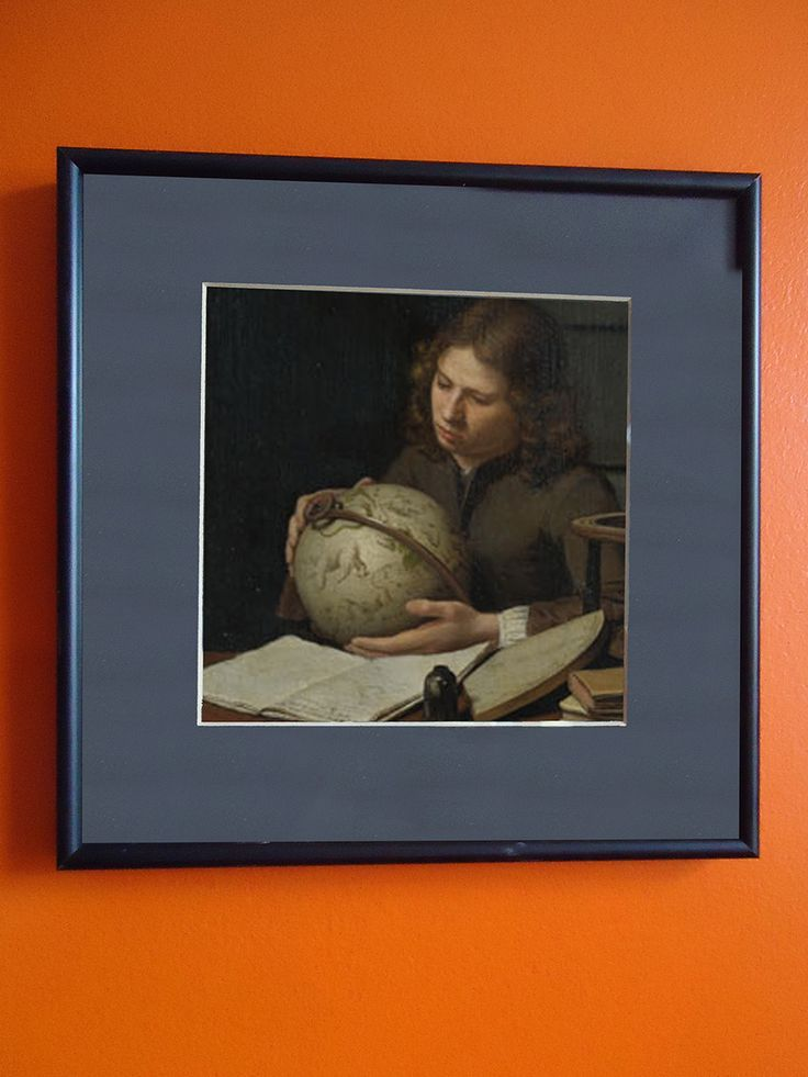 This is a print of one of my favorite paintings: The Young Astronomer, by Oliver Van Deuren.