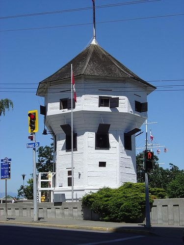 Nanaimo, BC's Bastion.  This 3 story wooden fort was built by the HBC in the 1850's entirely by hand using no nails.   It is the only surviving structure of this type in the whole of N. America.