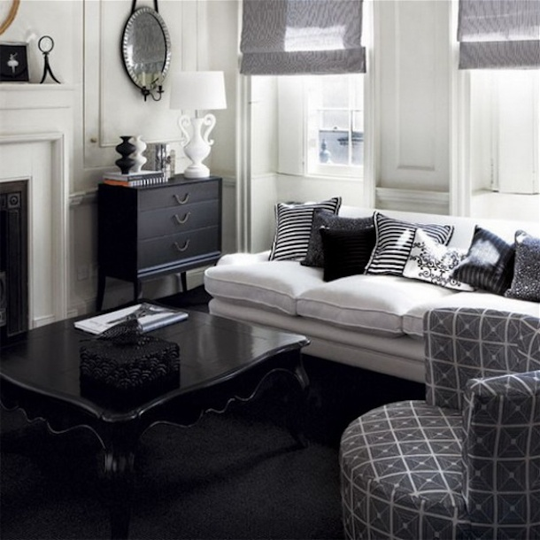 20 Chic Monochrome Traditional Living Room Designs : 21 Chic Monochrome  Traditional Living Room Designs Photo 03 U2013 Black And White Living Room With  Chic ... Part 85