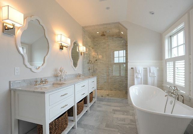 232 best appealing bathrooms images on pinterest for Bathroom ideas with shiplap