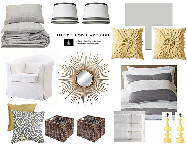 Ikea Yellow And Grey Bedding ~   bedding! and the yellow lamps!  Decor  Pinterest  Yellow, Gray and