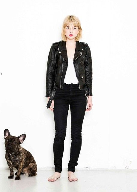 Womens Biker Jacket Black via Deadwood. Been wanting one forever! Maybe my birthday present could come in a Deadwood Leather bag... Well a girl can always hope...