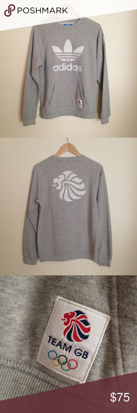 Adidas originals team GB sweatshirt Rare Olympic edition adidas originals crew neck sweatshirt! Team Great Britain. This is a men's size X-small which would also fit a women's small. adidas Shirts Sweatshirts & Hoodies