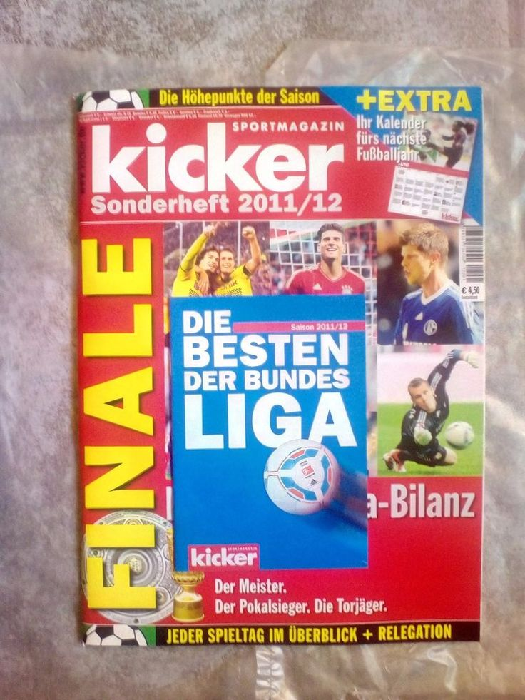 Kicker!Sportmagazin!Die Bundesliga Bilanz!Sonderheft  2011/12!NEU!    eBay