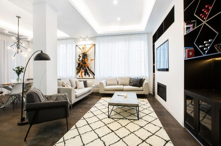 We spot a freedom rug! Head to freedom to style your Living + Dining room, just like Andy + Ben!