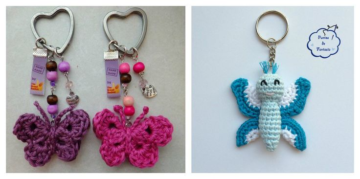 Crochet Butterfly Keychain Free Patterns are great to create adorable keychains. They can make great gifts that will be cherished and used everyday.