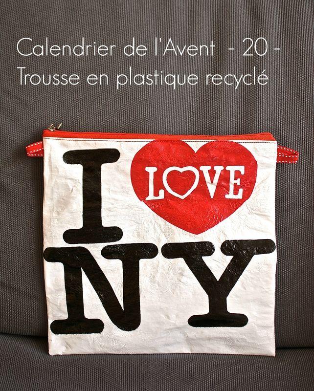 calendrier de l'avent créatif: une création par jour jusqu'à Noel - creative advent calendar: one creation a day until Christmas - fusing plastic bags - trousse en plastique recyclé