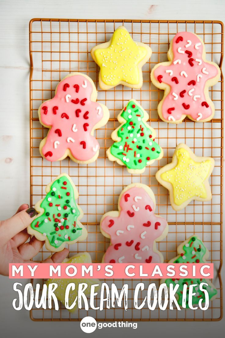 How To Make My Mom S Famous Sour Cream Cookies Sour Cream Cookies Cookies And Cream Sour Cream