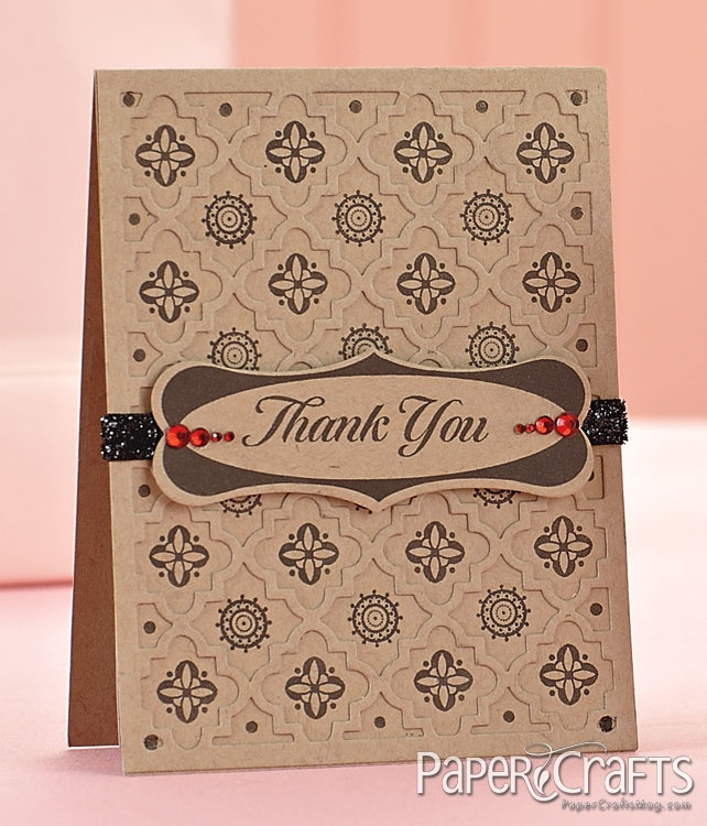 how to write thank you notes for wedding gift cards%0A Medallion Thank You Card by  Natasha Kara