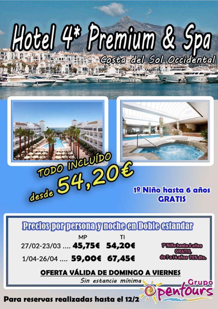 | GRUPO OPENTOURS | . Hotel 4* Premium - Costa del Sol ---- Todo Incluido desde 54,20 € por persona y día. ---- Para reservas realizadas hasta el 12 de Febrero, con fecha de entrada 27/02 al 26/04 ---- Los mejores precios y servicios, disponibles con Grupo Opentours ---- Información y Reservas en tu - Agencia de Viajes Minorista - ---- #hotelsecret #secrethotel #costadelsol #verano2018  #escapadas #hoteles #vacaciones #estancias #ofertas #familias #niños #agentesdeviajes  #reservas…