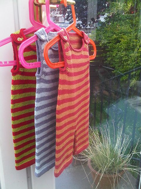 Ravelry: Stripey Baby Dungarees free pattern by Becky Smith