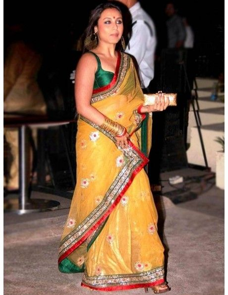 Rani Mukherjee In Yellow Saree Item code : SMBW02