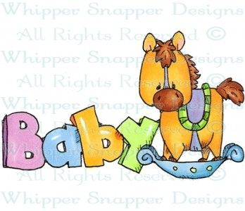 Rocking Horse Baby - Baby Images - Baby - Rubber Stamps - Shop