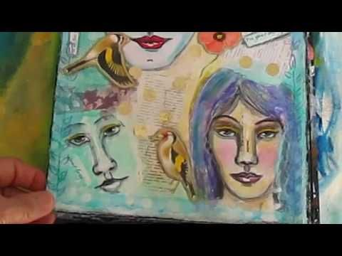 Art Journalling #1: Rightasrain Studios Mixed Media Journal Review - YouTube