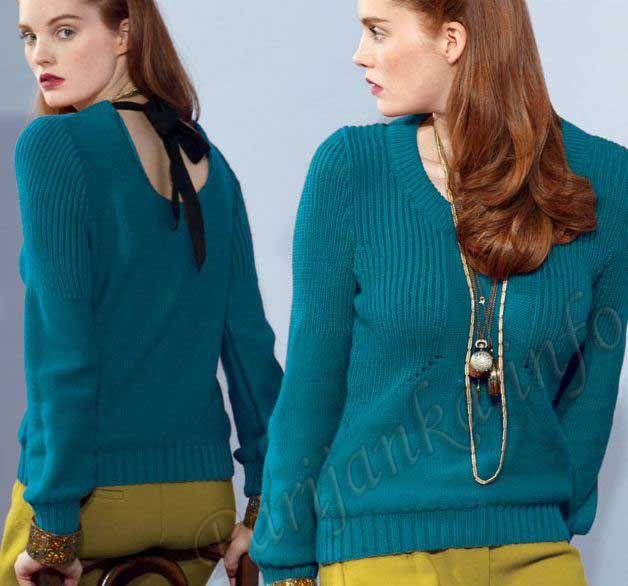 Пуловер (ж) 03*82 Phildar №3302