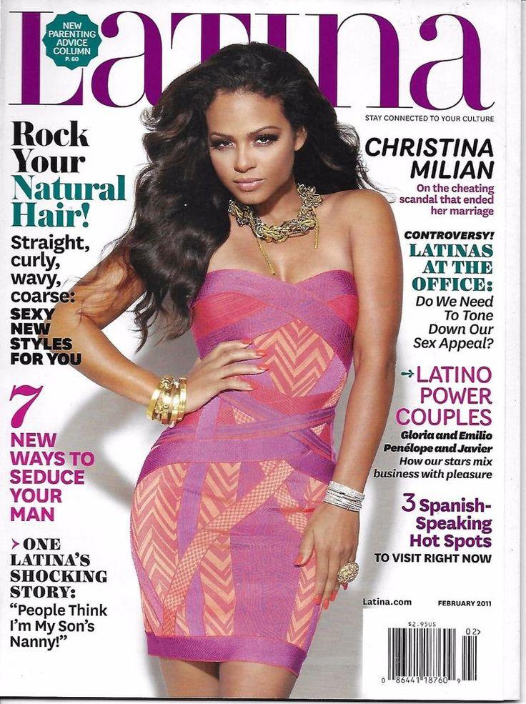 Latina magazine Christina Milian Natural hair Latino power couples Job tips