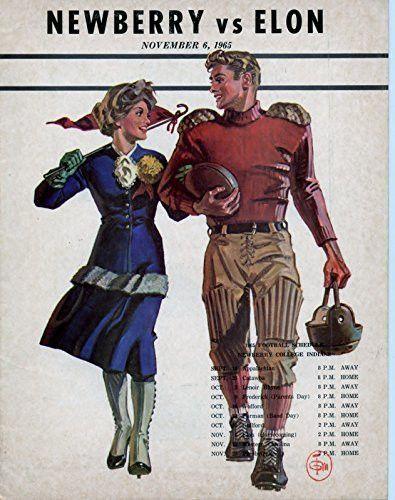 November 6, 1965 - Newberry College Indians vs Elon Phoenix College Football Program