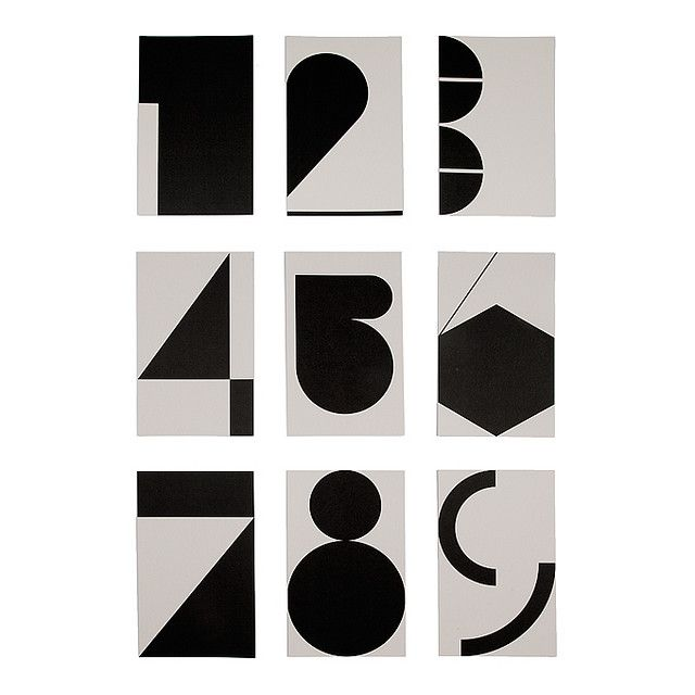 #typography #type #design #numbers