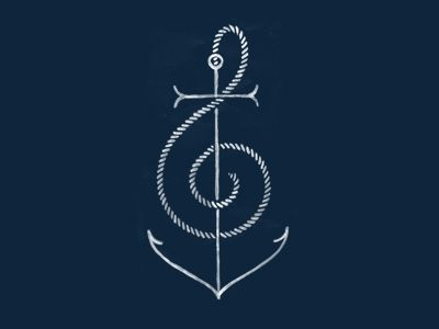 my grand father loves the oacen and his boat! i have always liked music and it is a pasion of mine and i was looking for a tattoo to represent me and him together since he passed away 6 years ago he taught me so much and i carrry him with me everyday!