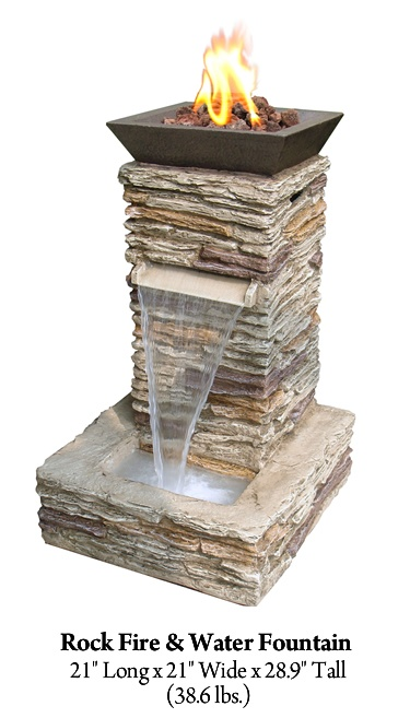 Rock Fire Amp Water Fountain Sale 411 00 Diy Ideas