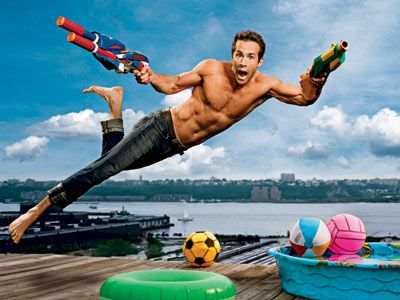 Ryan ReynoldsWater Toys, Ryanreynold, Drawing Art, Ryan Reynolds, Water Balloons, Celebrities Portraits, Funny Celebrities, Martin Schoeller, Kiddie Pools