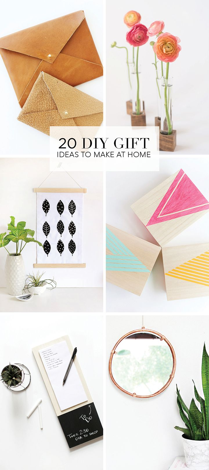 We've rounded up 20 of our favorite DIY Holiday Gift Ideas for you. Everyone loves a handmade gifts, so give one of these DIY projects a try | www.homeology.co.za