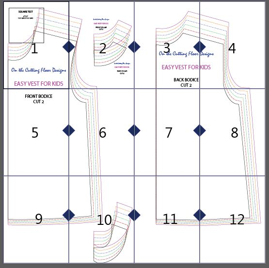 Simple Vest Pattern: Learn how to make an easy vest sewing pattern for kids. Step by step sewing tutorial included. Free sewing pattern ready to download!