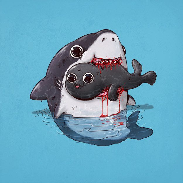 I got Shark and Seal! Which Adorable Animal Eating Adorable Animal Are You And Your BFF? (GRACCEEEEE LOL YASSSSSS)