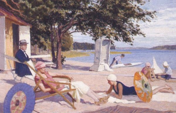 "Väinö Blomstedt, Finnish 1871 - 1947 ""Beach Idyl"""