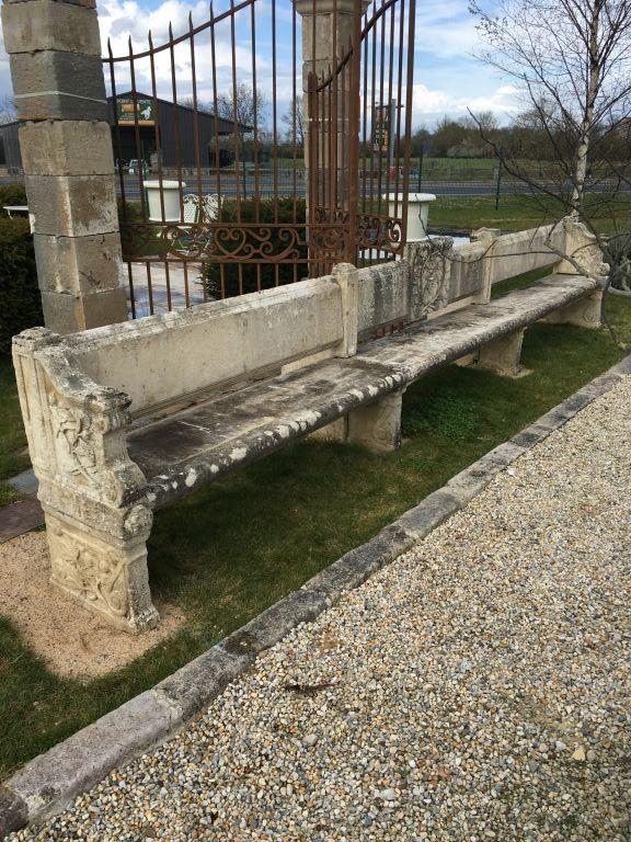 Banc pierre calcaire Cardinal Richelieu