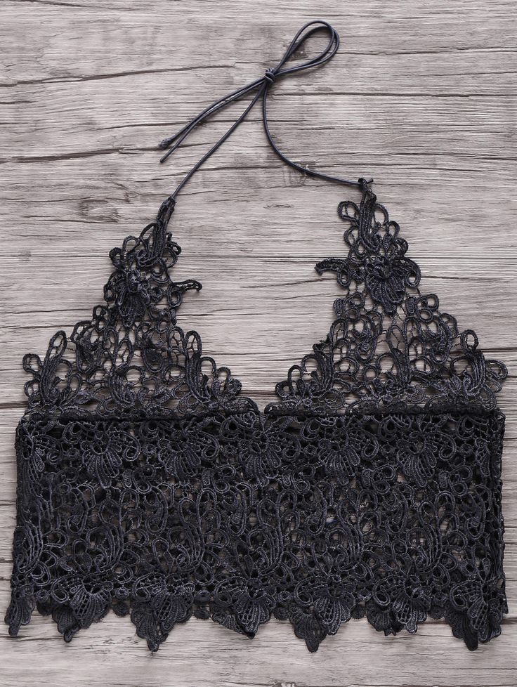 Short Solid Color Cami Lace Tank Top BLACK: Tank Tops | ZAFUL