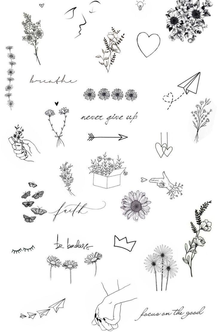 Надписи и рисунки маленькие