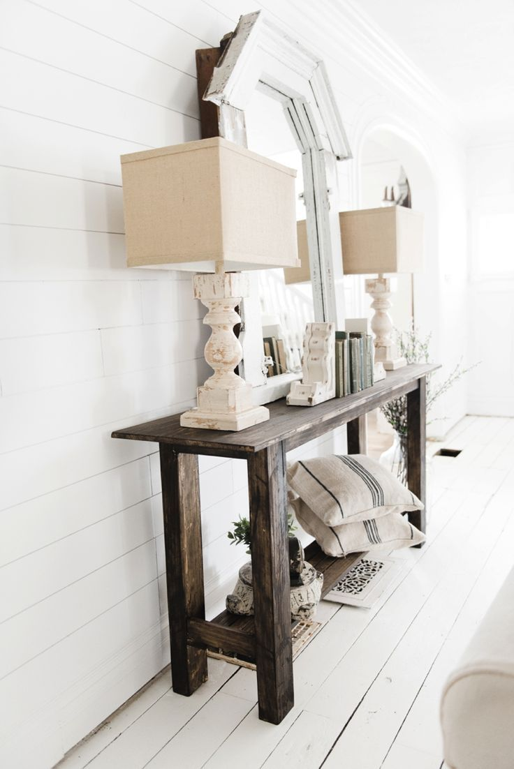 DIY Rustic Small Console Table |