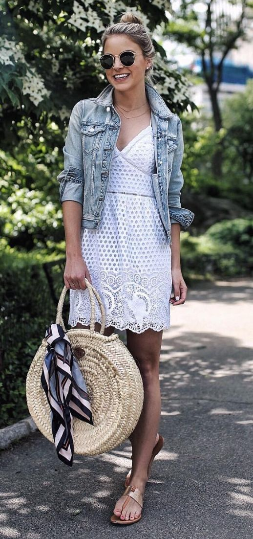 Isn't this white dress so pretty? Love the bag as well! Sunnies: Ray-Ban Round Metal: https://www.smartbuyglasses.co.uk/designer-sunglasses/Ray-Ban/Ray-Ban-RB3447-Round-Metal-001-102731.html