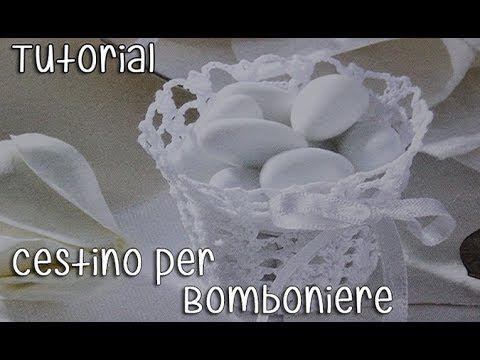 Tutorial bomboniere Cestino Uncinetto (Crochet) 3/5