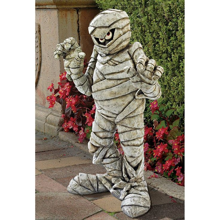 this scary halloween addition will add a spooky greeting to your front door - Halloween Statues
