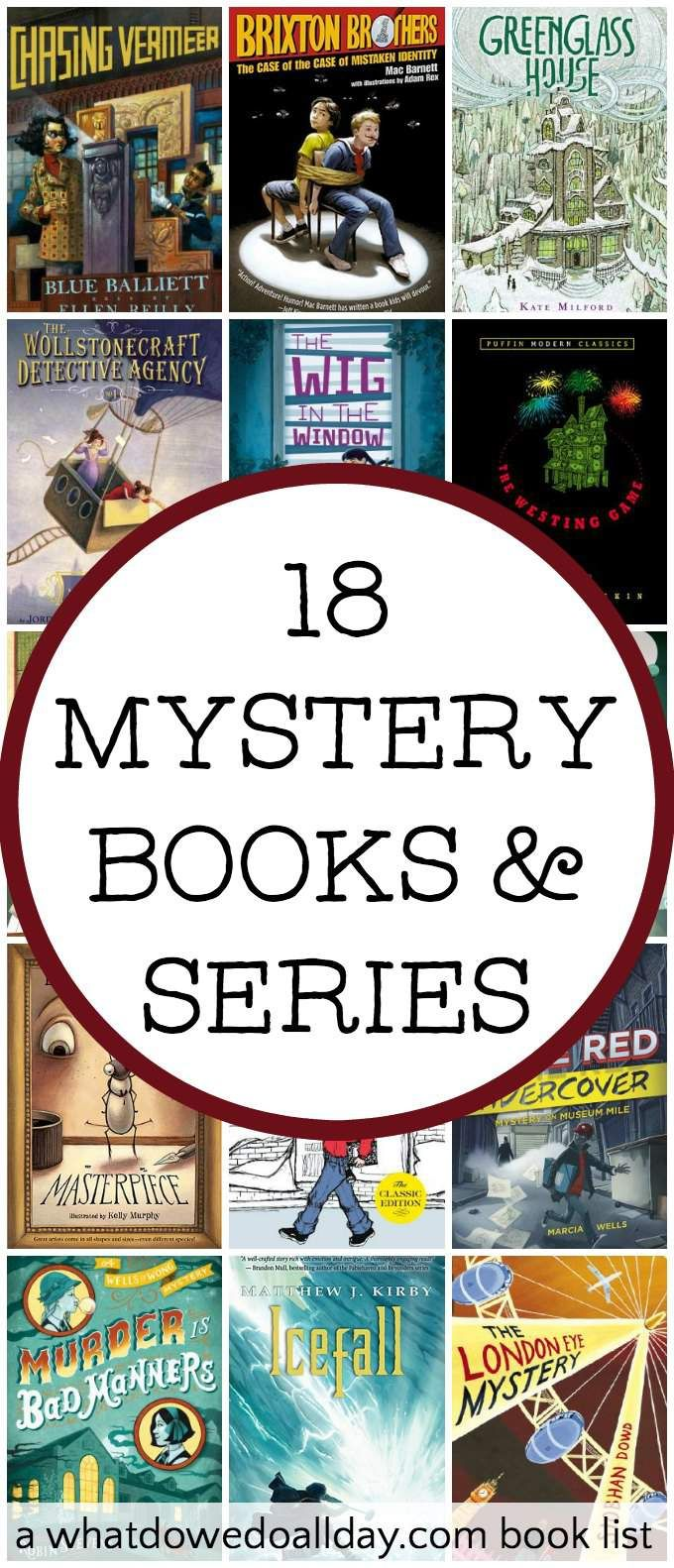 Middle grade mysteries for kids ages 8 and up. A list of suspenseful and clever mystery books and detective novels.