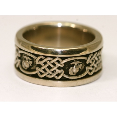 Yellow Gold Marine Corps Wedding Ring - Made in the USA, Licensed by the US Marine Corps and Solid Gold wtih Comfort band - available at:  http://www.usmc.biz/jewelry/marine-corps-rings/yellow-gold-marine-corps-wedding-ring.html