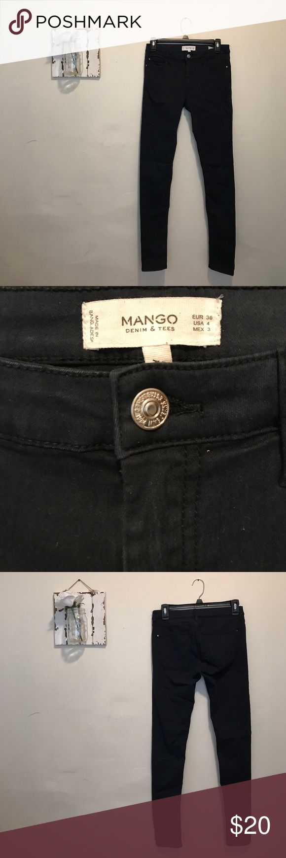 Mango blue skinny pant From Mango in Europe. Navy. Skinny to ankle. Fits like jeans. Mint Condition! Mango Jeans Skinny